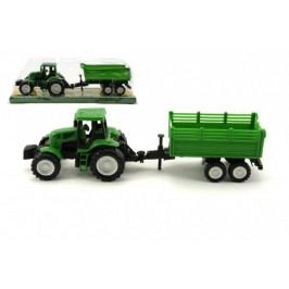 Teddies Traktor s vlekem plast 26 cm asst 2 druhy na setrvačník