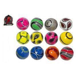 Teddies Míč fotbalový s pumpičkou 22cm Dunlop vel. 5 šitý asst mix barev v síťce