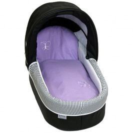 Babyrenka povlečení do kočárku Uni violet s výšivkou PKL71168