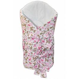 Baby Nellys Zavinovačka šněrovací 75x75cm - motýlci růžoví