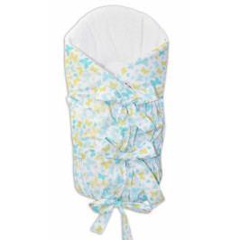 Baby Nellys Zavinovačka šněrovací 75x75cm - motýlci žlutí,modří