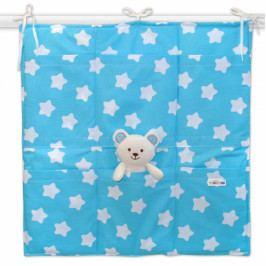 Baby Nellys Kapsář 6 kapsiček, 55x60cm Sweet Stars - tyrkysový