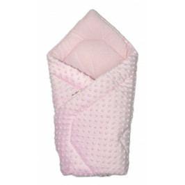 Baby Nellys Luxusní zavinovačka 75x75cm, Minky Baby - růžová