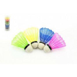 Teddies Míček na badminton barevný 5ks v tubě 7x19x7cm