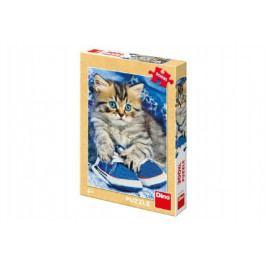Dino Puzzle kotě v botách XL 33x47cm 300 dílků v krabici 19x27x4cm