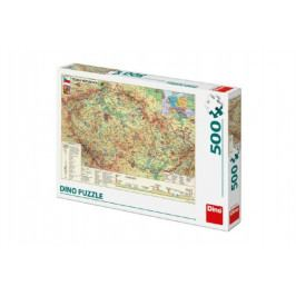 Dino Puzzle Mapa České Republiky 47x33cm 500dílků v krabici 33x23x3,5cm