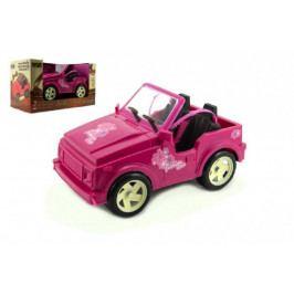 Dromader Auto pro panenky růžové plast 30cm volný chod v krabici