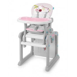 Jídelní židlička plastová 2v1 Baby Design Candy růžová 08