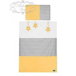 2-dílné ložní povlečení Belisima Hvězdička 100/135 žluté 100/135 cm