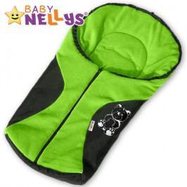 Baby Nellys Fusák nejen do autosedačky Baby Nellys ® POLAR - zelený medvídek