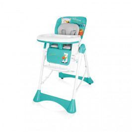 Jídelní židlička plastová Baby Design Pepe tyrkysová 05