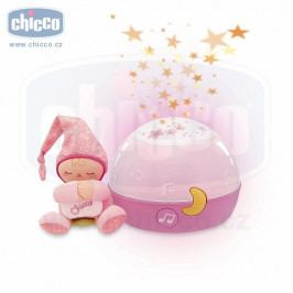 Chicco Chicco Lampička hrající noční obloha - růžová