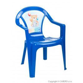 Dětský zahradní nábytek - Plastová židle modrá