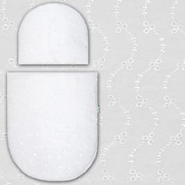 Babyrenka peřinky do kočárku Madeira bílá 3 dirky PKM0247