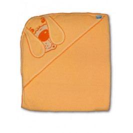Dětská froté osuška 80x80 pejsek oranžová