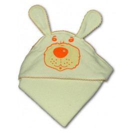 Dětská froté osuška 80x80 pejsek béžová
