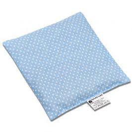 Babyrenka nahřívací polštářek z třešňových pecek Dots blue 15x15