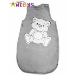 Baby Nellys Spací vak Teddy Bear Baby Nellys - šedá vel. 2