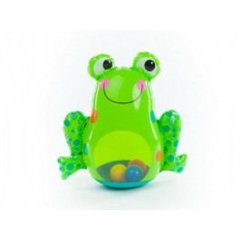 Žába nafukovací kývající se plnící vodou s míčky 46x43cm v krabici 6m+