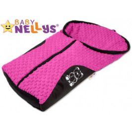 Baby Nellys Fusák nejen do autosedačky Baby Nellys ® MINKY - růžový, amarant