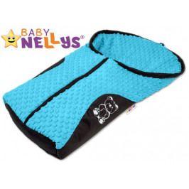 Baby Nellys Fusák nejen do autosedačky Baby Nellys ® MINKY - modrý, tyrkys