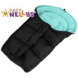 Baby Nellys Fusák nejen do autosedačky Baby Nellys ® MINKY - tyrkysový