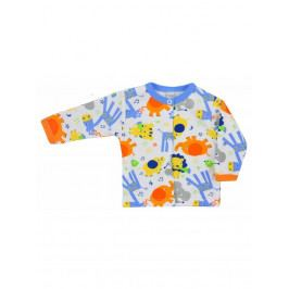 Kojenecký kabátek Bobas Fashion Zoo modrý 68 (4-6m)