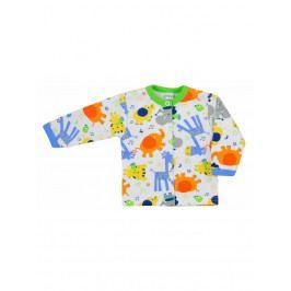 Kojenecký kabátek Bobas Fashion Zoo zelený pro kluky 80 (9-12m)