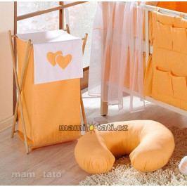 Mamo Tato Luxusní praktický koš na prádlo - Srdíčko pomeranč