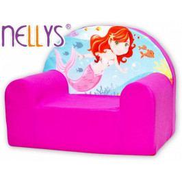 NELLYS Dětské křesílko/pohovečka Nellys ® - Malá mořská víla, růžové