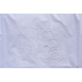 Souprava do postýlky 6dílná - Scarlett Měsíček - bílá 100 x 135 cm