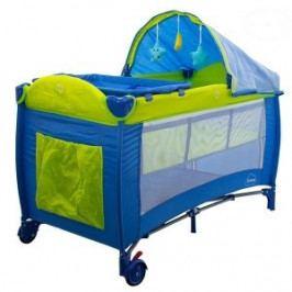 EURO BABY Dětská cestovní postýlka DREAM - modrá