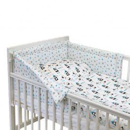 Babyrenka povlečení do postýlky třídílné 40x60,90x130 cm Kos tyrkys 3D22T660