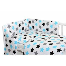 Baby Nellys Mantinel s povlečením - Barevné hvězdičky - modré