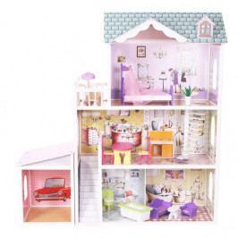 ECO TOYS Dřevěný domek pro panenky s garáží ECO TOYS - Rezidence Beverly Hills