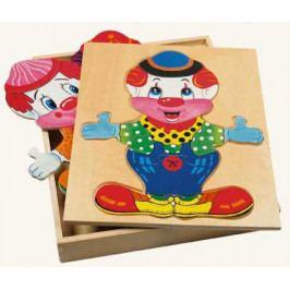 Bino Dřevěné hračky - Šatní skříň velká - klaun