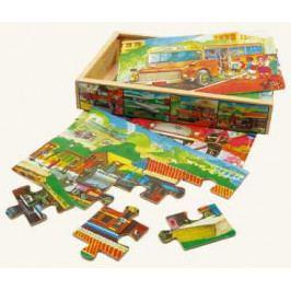 Bino Dřevěné hračky -  Puzzle v krabičce - doprava