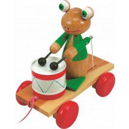 Woody Dřevěné hračky Woody - Tahací žába s bubnem