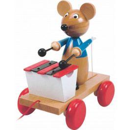 Woody Dřevěné hračky Woody - Tahací myš s xylofonem