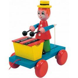 Woody Dřevěné hračky Woody - Tahací klaun s xylofonem