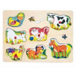 Woody Dřevěné hračky - Muzikální puzzle Domácí zvířata
