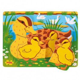 Bigjigs Toys Dřevěné vkládací puzzle - Kachny