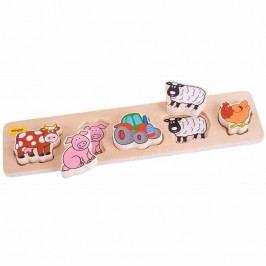 Bigjigs Toys Dřevěné vkládací puzzle - Farma