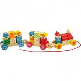 Bigjigs Toys Bigjigs Toys dřevěný vláček s nasazováním