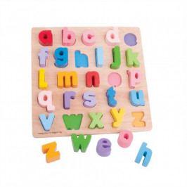 Bigjigs Toys Dřevěná motorická vzdělávací hračka - Abeceda malá písmena