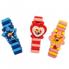 Bigjigs Toys Bigjigs dřevěné náramkové hodinky 1ks