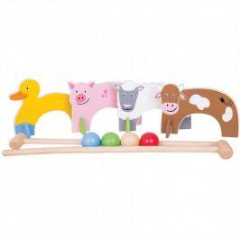 Bigjigs Toys Bigjigs Toys dřevěné hry - kroket se zvířátky farma