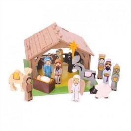 Bigjigs Toys Bigjigs Toys dřevěné hračky - Betlém pro nejmenší
