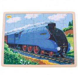 Bigjigs Toys Bigjigs Toys dřevěné puzzle historický vlak Mallard 35 dílků