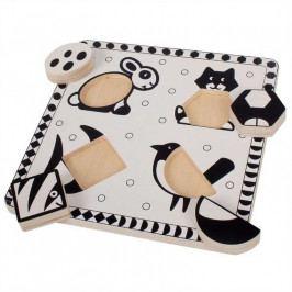 Bigjigs Toys Bigjigs Toys  dřevěné vkládací puzzle -  černobílé tvary